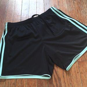 Women's sz medium Black & Mint Green Adidas Shorts